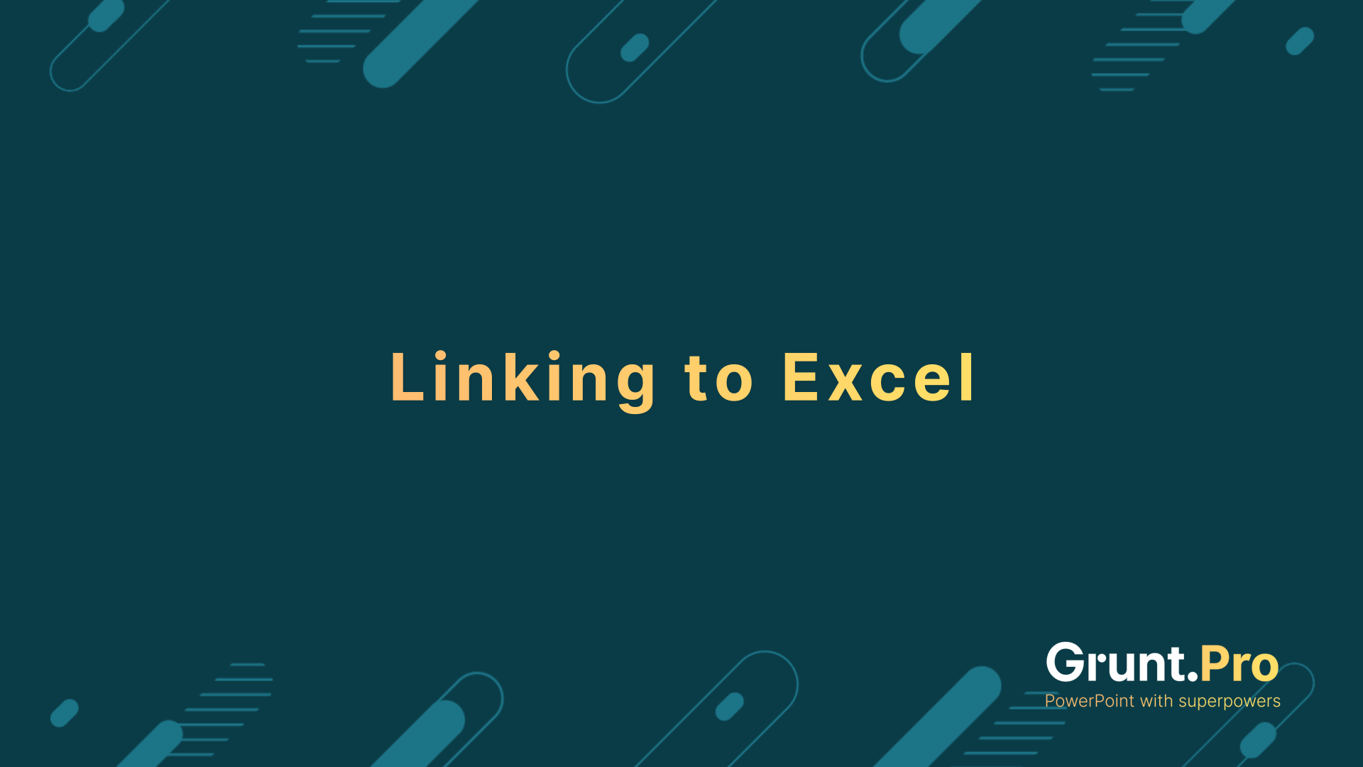 Linking to Excel